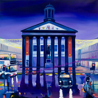 Glasgow GoMA  X large limited edition giclee print (free pp uk)