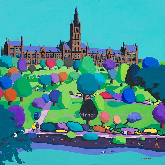 Glasgow University Print (free uk postage)