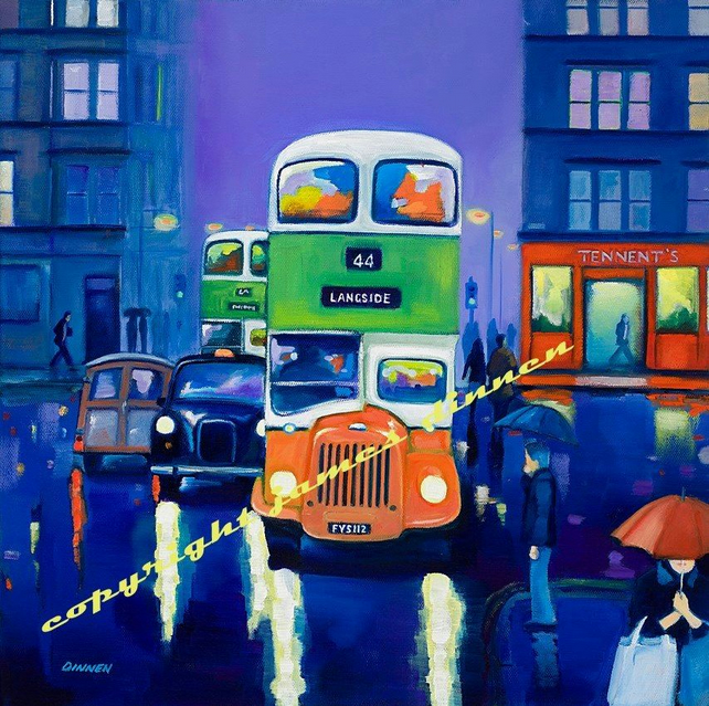 44 Bus Byres Road 1960's (free uk postage)