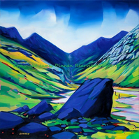 Lost Valley , Glencoe print ( Free Postage UK)