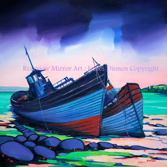 Salen Boat Wrecks (Mull) ( free UK postage)
