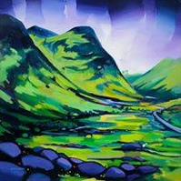 Glencoe Small Mounted Limited Edition Giclee  (Free Postage UK)