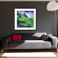 Glencoe , Extra Large limited edition giclee print  (free postage)