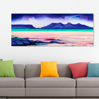 Camusdarach Beach.  Extra large limited edition giclee print (free UK postage)