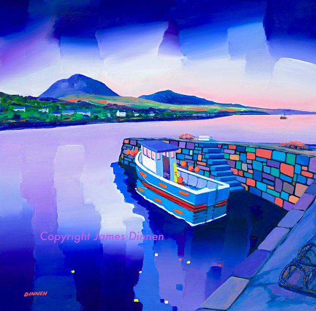 Limited edition giclee print of Craighouse Harbour , Jura  ( FREE UK POSTAGE)