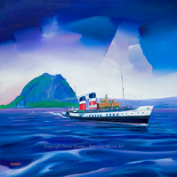 The Waverley near Dumbarton Rock Limited edition giclee print ( free postage)