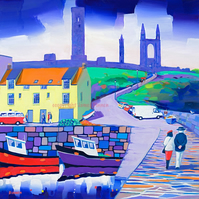 St Andrews Harbour (Limited edition giclee print) Free postage