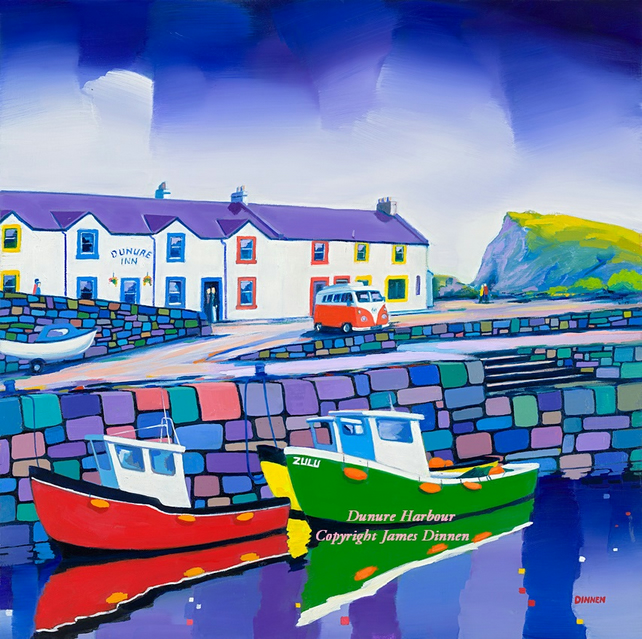 Dunure Harbour  Limitred edition giclee print ( free uk postage)
