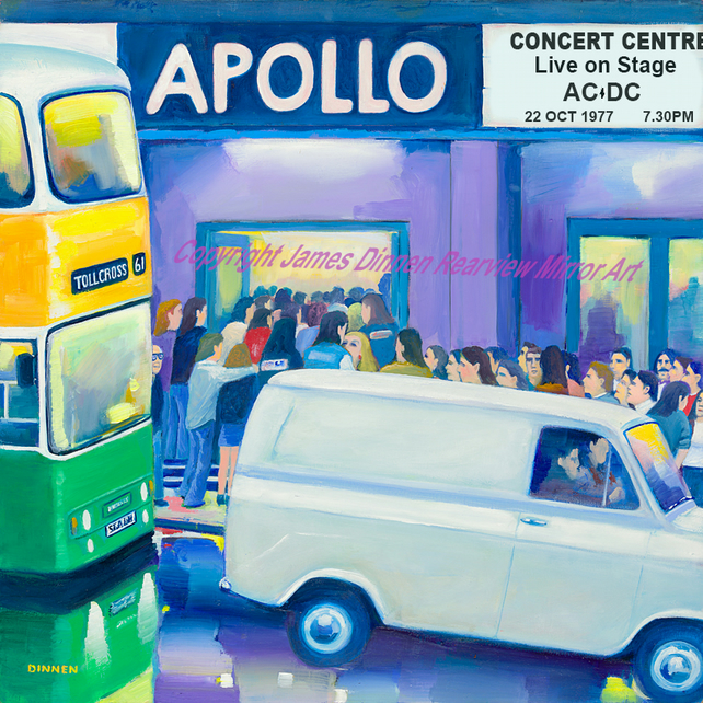 Apollo Theatre Glasgow (personalised) limited edition giclee ( free uk postage)