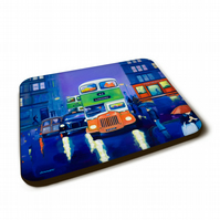 Six piece Coaster set  ( featuring my artwork)  FREE pp (UK)