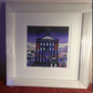 Small framed limited edition giclee print of Glasgow GoMA  ( free pp UK)