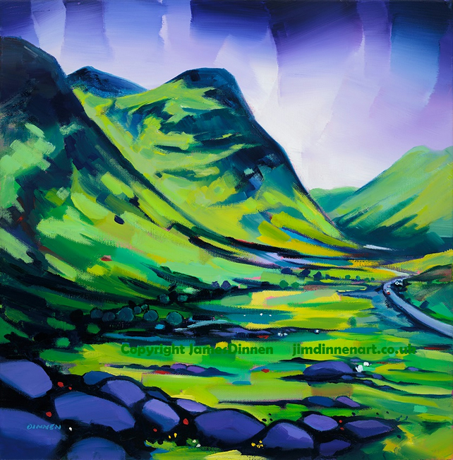 Glencoe , Large framed limited edition signed giclee print    (Free postage UK)
