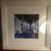 Framed Limited Edition Giclee print of Ashton Lane Glasgow ( Free pp UK)
