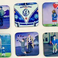 Set of 4 Coasters (Rangers FC)  , Free PP (UK)
