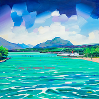 Limited edition giclee print . Lomond Shores ( Free pp UK)