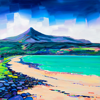 Mounted Limited edition giclee print  , Brodick Bay , Arran ( Free PP UK)