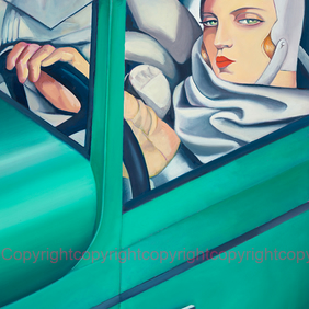Signed Giclee  X large mounted print of my Lempicka 'Autoportrait' painting