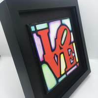 "Framed Love Tile   9 x9"" Frame"