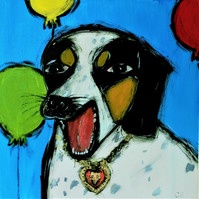 High quality print of 'Party Dog' limited edition of 25