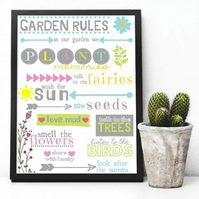 Personalised Garden Rules Poster