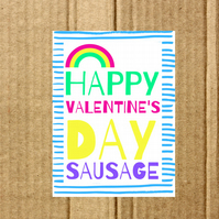 Card- Happy Valentine's Day Sausage
