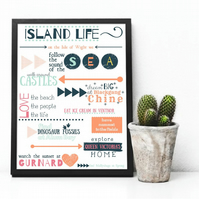 Personalised poster of where you live