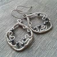 Lightweight delicate hematite earrings