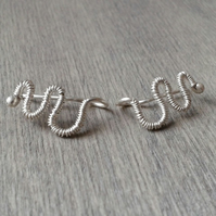 Wire-wrapped essential ear cuffs