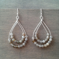 Boho earrings with labradorite gemstone