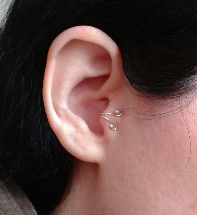 Sterling silver tragus earring