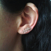 Sterling silver wire ear cuffs
