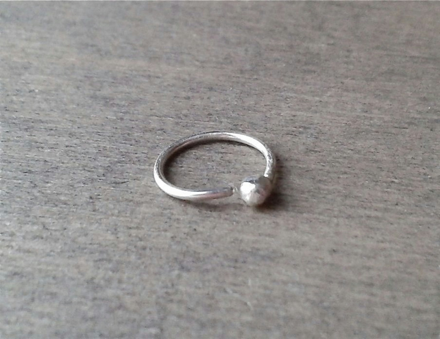 Small hoop for piercings