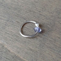 Silver hoop for auricle ear piercing