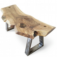 MADE TO ORDER: ammonite & walnut coffee table