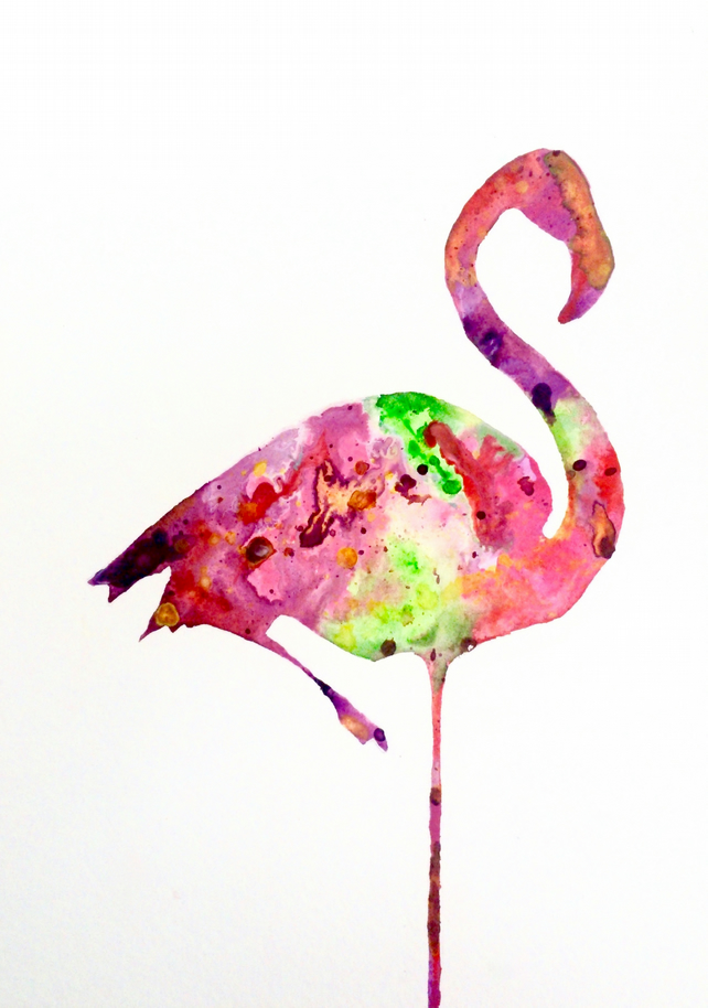 Flamingo - Print of Original Watercolour Painting