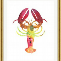 Lobster - Print of Original Watercolour Painting