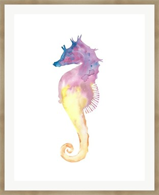 Seahorse - Print of Original Watercolour Painting