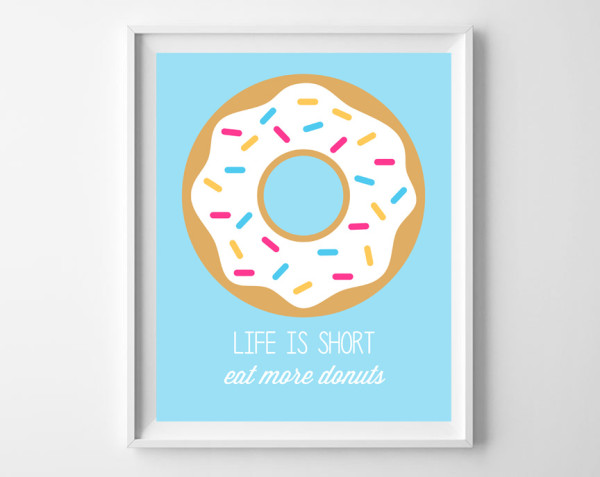 Instant Download - Donut Quote Blue