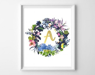 Instant Download - Monogram ' A ' All Letters Are Available