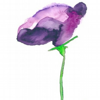 """Lisianthus""  - Print of Original Watercolour Painting"