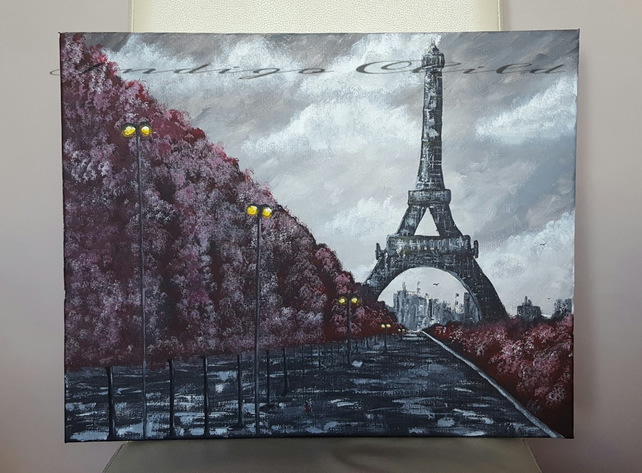 Art Painting Rainy Paris Painting