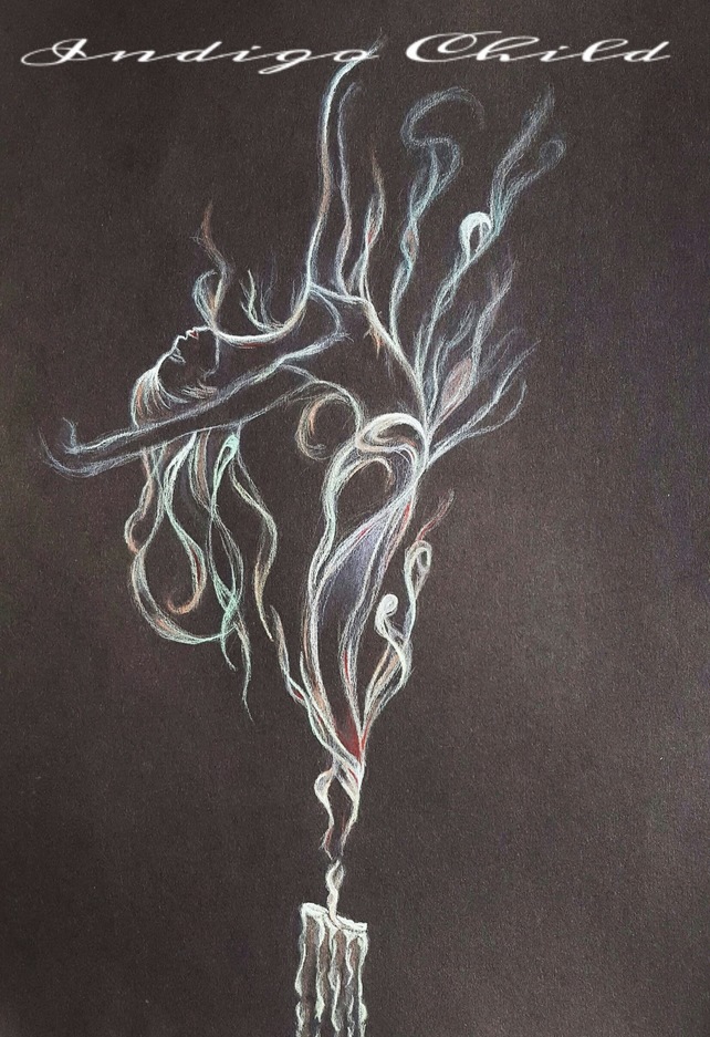 Art Drawing Ballerina Smoke Drawing
