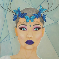 Art Drawing Butterfly Crown Drawing