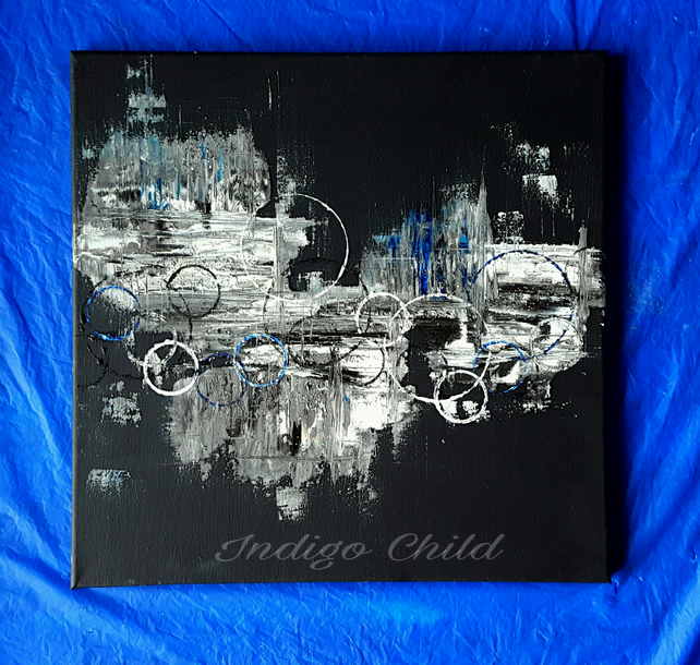 Art Painting Grey-Black Abstract Painting