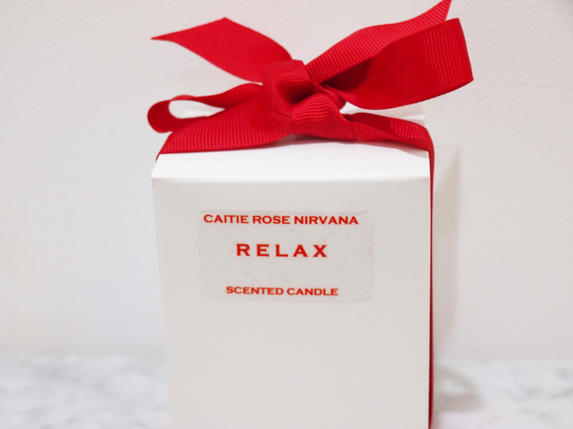 Candle gifts Gifts for her RELAX Scented Luxury Candle Christmas Gifts for  home