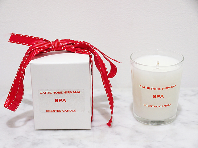 Spa scented luxury candle christmas gifts cand folksy for Spa smelling candles