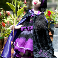 Witch Alethea- One Of A Kind Needle Felted