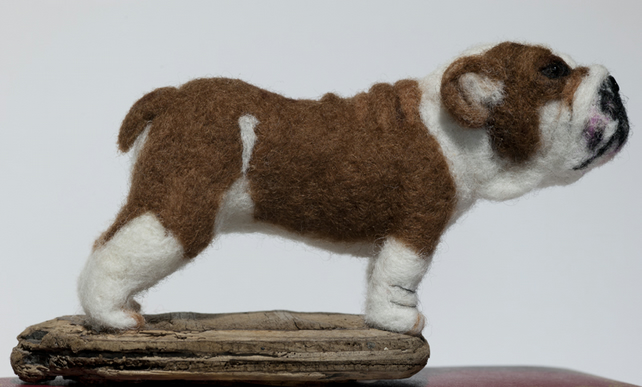 English Bulldog - One of a Kind Needle Felted