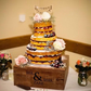 Personalised Wooden Wedding Cake Stand 16 inch