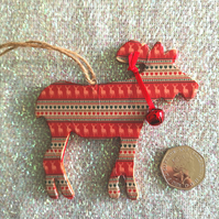 Christmas Reindeer Tree Decoration